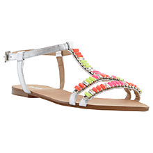 Buy Dune Nimbo Baguette Stone Embellished Leather Sandals, Multi Online at johnlewis.com