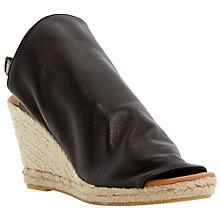 Buy Dune Black Klarra Leather Wedge Sandals Online at johnlewis.com