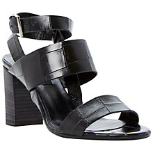 Buy Dune Black Margot Croc Sandals Online at johnlewis.com
