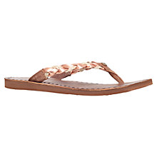 Buy UGG Navie Leather Flat Flip Flops, Metal Comb Online at johnlewis.com