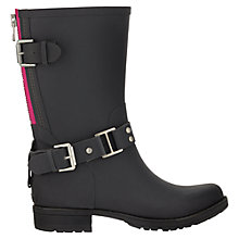 Buy Jigsaw Short Biker Wellington Boots, Slate Online at johnlewis.com