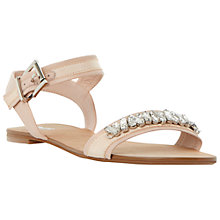 Buy Dune Neeve Jewelled Leather Sandals, Blush Online at johnlewis.com