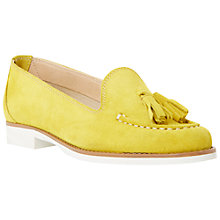 Buy Dune Galileo Suede Tassel Loafers, Yellow Online at johnlewis.com