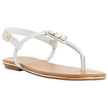 Buy Dune Lilypad Jewelled Toe Post Leather Sandals Online at johnlewis.com