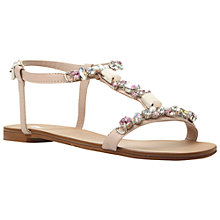 Buy Dune Natallie Beaded Leather Sandals, Nude Online at johnlewis.com