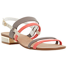 Buy Dune Jette Leather Multi Strap Sandals, Multi Online at johnlewis.com