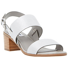 Buy Dune Jakob Block Heeled Leather Sandals Online at johnlewis.com