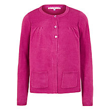 Buy John Lewis Girl Fine Knit Cardigan, Pink Online at johnlewis.com