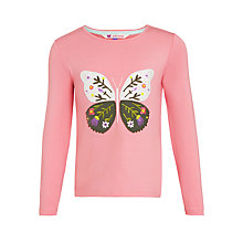 Buy John Lewis Girl Graphic Butterfly T-Shirt, Pink Online at johnlewis.com