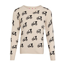 Buy John Lewis Girl Bikes Pattern Jumper, Off White Online at johnlewis.com