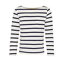 Buy John Lewis Girl Stripe Long Sleeve Top, Cream/Blue Online at johnlewis.com