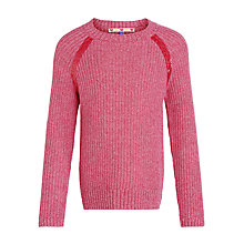 Buy John Lewis Girl Melange Sequin Detail Jumper, Pink Online at johnlewis.com