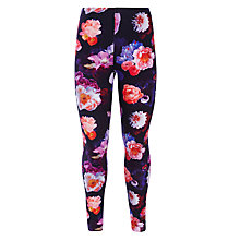 Buy John Lewis Girl Digital Flower Print Leggings, Multi Online at johnlewis.com