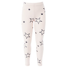 Buy John Lewis Girl Star Glitter Leggings, Pink Online at johnlewis.com