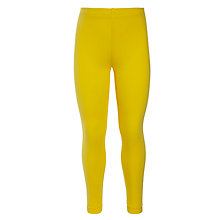 Buy John Lewis Girl Bright Cotton Blend Leggings, Yellow Online at johnlewis.com