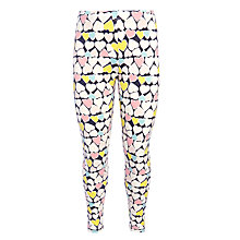 Buy John Lewis Girl All Over Heart Leggings, Multi Online at johnlewis.com