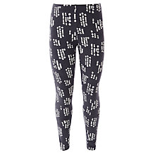 Buy John Lewis Girl Geo Floral Leggings, Charcoal Online at johnlewis.com