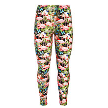 Buy John Lewis Girl Flamingo Print Leggings, Multi Online at johnlewis.com