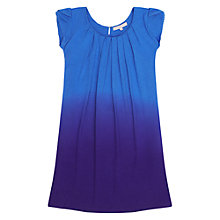 Buy Jigsaw Junior Girls' Dip Dye Flutter Dress, Blue Online at johnlewis.com