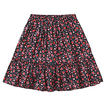 Buy Jigsaw Junior Girls' Floral Print Tiered Skirt, Multi Online at johnlewis.com