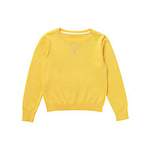 Buy Jigsaw Junior Girls' Cashmere & Cotton Jumper, Yellow Online at johnlewis.com
