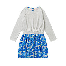 Buy Jigsaw Junior Girls' Balloon Print Jersey Dress, Blue/Grey Online at johnlewis.com
