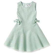 Buy Jigsaw Junior Girls' Side Bow Tie Dress, Aqua Online at johnlewis.com