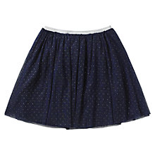 Buy Jigsaw Junior Girls' Glitter Spot Mesh Skirt, Navy Online at johnlewis.com