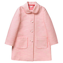 Buy Jigsaw Junior Girls' Grosgrain Coat, Pink Online at johnlewis.com