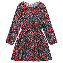 Buy Jigsaw Junior Girls' Rose Print Dress, Multi Online at johnlewis.com