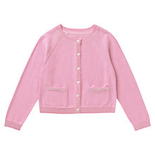 Buy Jigsaw Junior Girls' Lurex Detail Cardigan, Pink Online at johnlewis.com