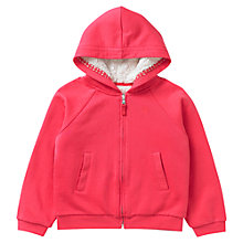 Buy Jigsaw Junior Girls' Fleece Lined Zip-Through Hoodie, Pink Online at johnlewis.com