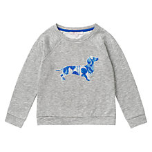 Buy Jigsaw Junior Girls' Sausage Dog Motif Sweatshirt, Grey Online at johnlewis.com