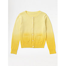 Buy Jigsaw Junior Girls' Dip Dye Cardigan, Yellow Online at johnlewis.com