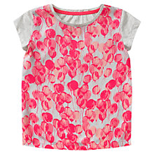Buy Jigsaw Junior Girls' Balloon Print T-Shirt, Pink/Grey Online at johnlewis.com