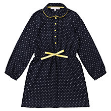 Buy Jigsaw Junior Girls' Polka Dot Shirt Dress, Navy Online at johnlewis.com