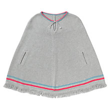 Buy Jigsaw Junior Girls' Fringed Knit Poncho, Grey Online at johnlewis.com