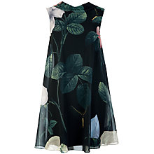 Buy Ted Baker Hanbr Distinguishing Rose Tunic Dress, Black Online at johnlewis.com
