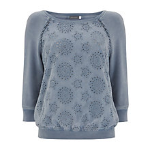 Buy Mint Velvet Bluebell Broderie Jumper, Blue Online at johnlewis.com