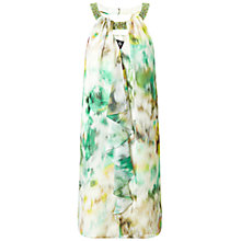 Buy Ariella Heather Frill Front Dress, Green/Yellow Online at johnlewis.com
