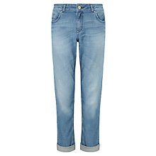Buy Jigsaw Hampton Light Wash Jeans, Light Blue Online at johnlewis.com
