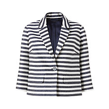 Buy Jigsaw Stripe Casual Jacket, Navy Online at johnlewis.com