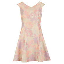 Buy Ted Baker Floral Flippy Jacquard Dress, Nude Online at johnlewis.com