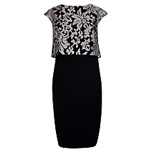 Buy Ted Baker Maxina Jacquard Double Layer Dress, Black Online at johnlewis.com