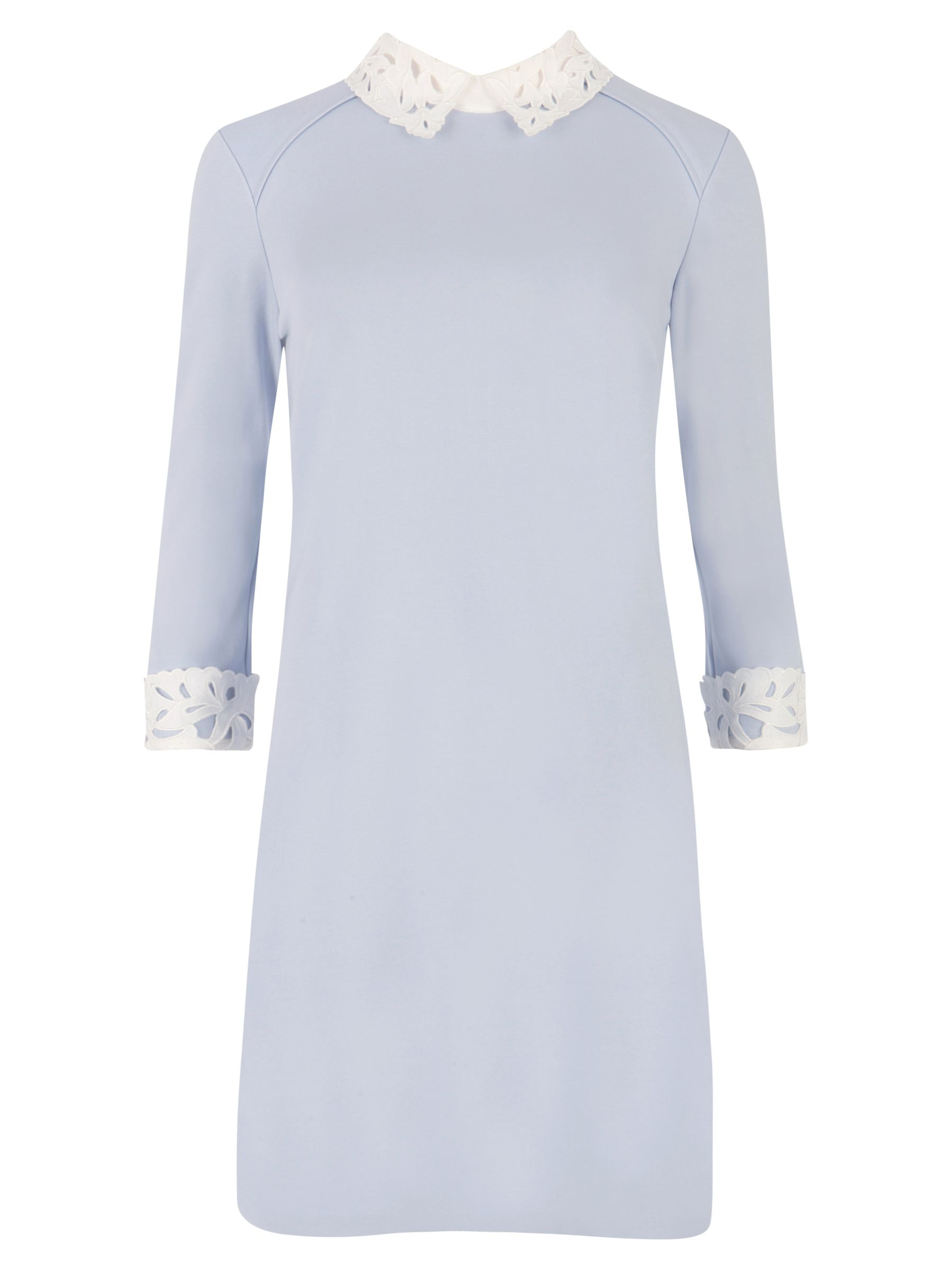 ted baker lace collar tunic dress powder blue, ted, baker, lace, collar, tunic, dress, powder, blue, ted baker, 1|2|3|4|5|0, edition magazine, ss15 trend pastels, women, womens dresses, fashion magazine, womenswear, men, brands l-z, 1873503