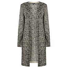 Buy Warehouse Mono Long Cardigan, Black Pattern Online at johnlewis.com