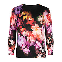 Buy Ted Baker Cascading Floral Sweater, Black Online at johnlewis.com