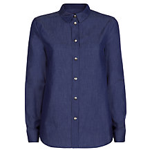 Buy Jaeger Cotton Denim Shirt, Chambray Online at johnlewis.com