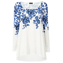 Buy Phase Eight Irena Print Top, Blue / White Online at johnlewis.com
