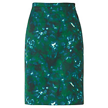 Buy Jigsaw Misty Garden Pencil Skirt, Green Online at johnlewis.com